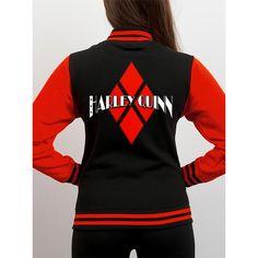 DC Comics Batman - Harley Quinn Logo dames varsity jacket vest zwart/r
