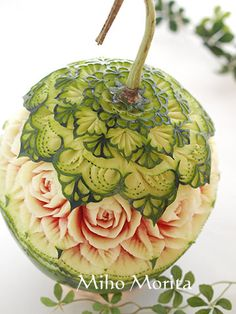 fruit carving & soap carving art from Tokyo