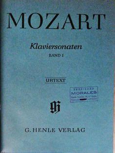 Mozart, W. Amadeus. Klaviersonaten Band I