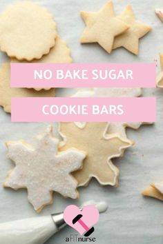 Clean eating sugar cooking for season! Ingredients For Sugar Cookies, Healthy Sugar Cookies, No Bake Sugar Cookies, Sugar Cookie Bars, Healthy Sweets, Clean Eating Recipes, Raw Food Recipes, Healthy Eating, Delicious Recipes
