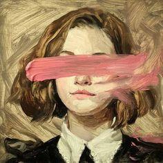 Hélène Delmaire / arte, pintura, rostros, rostro, face