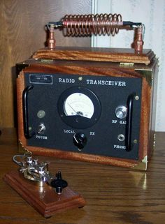 Beautiful antique radio transceiver!