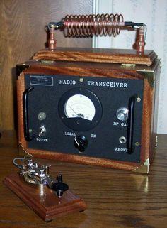 Beautiful antique radio transceiver!