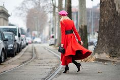 Zhanna Romashka - Street Style from Milan Men's Fashion Week