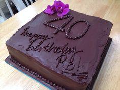 Gluten free triple chocolate birthday cake...cos you're worth it!