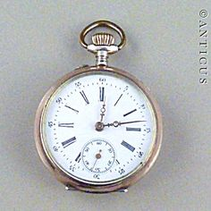 Silver And Gold Cased Pocket Watch. Rose Gold Frame, Army Watches, Vintage Pocket Watch, Rose Gold Watches, Chain, Crystals, Silver, Accessories, Crystal