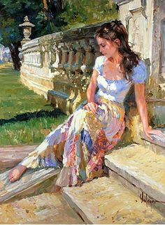 Vladimir Volegov~ Reflections On The Stairs~ Wondering Does He Or Doesn't He Care?~