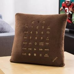 """Not sure how """"amazing"""" this is but it's interesting... it's a remote control AND a pillow. LOL"""