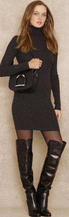 Blue Label Turtleneck Sweater Dress