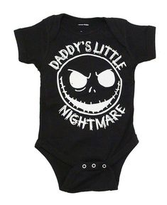 The Nightmare Before Christmas Jack Daddy's Little Nightmare Black Baby Snapsuit