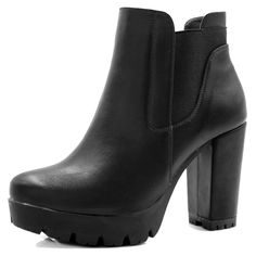 046be8086a4f Allegra K Women s Chunky High Heel Platform Zipper Chelsea Boots     Wonderful to have you
