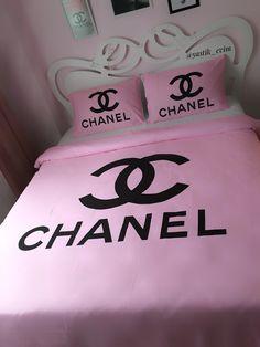 Pembe Chanel Nevresim @yastik_evim