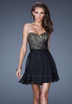 La Femme Black Dress 19402