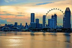 Poster Singapore Flyer Sunset