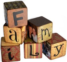 Easy photo and word blocks