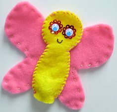 butterfly finger puppet (kids party?)