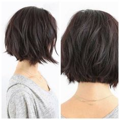 35 Short Bob Hairstyles 2019 for Women - Hairstyles Trends Short Hair With Layers, Short Hair Cuts For Women, Short Hair Styles, Choppy Bob Hairstyles, Cool Hairstyles, Hair Color And Cut, Hair Today, Hair Dos, Hair Trends