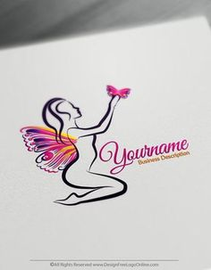 Create Your Own Beauty logo ideas instantly. Design a logo online using Lady Butterfly Logo Template and free Beauty logo maker. Logo Maker App, Best Logo Maker, Logo Design Template, Logo Templates, Free Logo Creator, Lady Logo, Hair Salon Logos, Fashion Logo Design, Fashion Logos