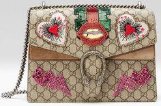 Sac Dionysus City bag, New York de Gucci avec des coeurs