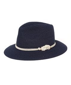This Magid Navy & White Rope-Accent Fedora by Magid is perfect! #zulilyfinds