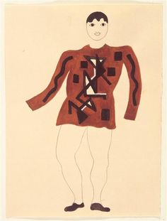 Draft costume (Front) by @artistleger #fineart #cubism