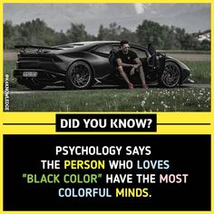 """psychology facts psychology says, the person who loves """"black color"""" have the most colorful minds. True Interesting Facts, Some Amazing Facts, Interesting Facts About World, Intresting Facts, Unbelievable Facts, Wierd Facts, Wow Facts, Real Facts, Wtf Fun Facts"""