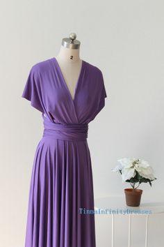 Violet bridesmaid dresses, infinity bridesmaid dresses , convertible dress