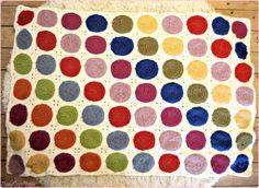 the rainbow retro circle blanket