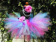Birthday Tutu  blues purple pinks custom pixie tutu by TiarasTutus, $30.00