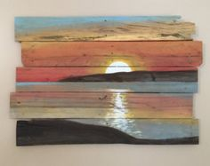 Trees on the Distant Shore by ReClaimedPurposed on Etsy