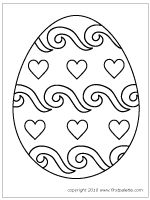 Free Printable Easter Eggs Coloring Pages Yellow Birthday