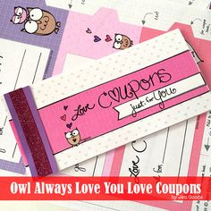 Love coupons - love the cute owls!