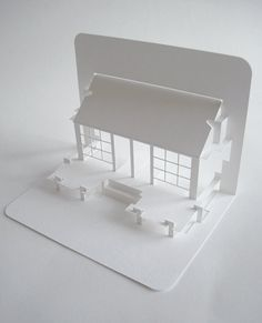 beautiful japanese tea house pop-up card by elod beregszaszi...