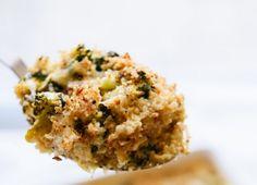 Pastel salado de brócoli y coliflor con salsa bechamel - Notas - La Bioguía