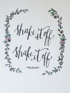 Taylor Swift Shake It Off Lyrics by aLittleBirdieToldMee on Etsy