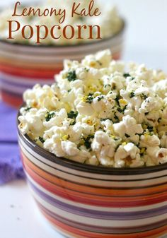 Lemony Kale Popcorn - a healthy twist on a favorite snack!