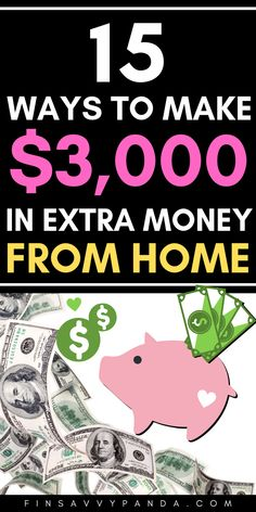 This post will teach you how to make money online so you can add an extra $3,000 per month into your bank account! These are work from home jobs that require NO experience. #1 is my top pick because you can turn this into a home business. I started over a year ago and went from making an extra $500 to over $9,000 in a month. #1 is quick and easy for side hustle money! They are websites that pay you without having a job. Make money fast today! #makemoneyonline #workfromhome #sidehustle