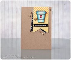 "Karte zum Vatertag | Father's Day card - Create A Smile Stamps ""Coffee First"", Hero Arts ""Tweed Pattern"", Stampin' Up ""Kleine Wünsche"", PanPastel, Faber-Castell Polychromos"
