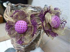 Fialové bodky s čipkou by Martinuska - SAShE. Handmade Earings, Jewelry, Fashion, Moda, Jewlery, Jewerly, Fashion Styles, Schmuck, Jewels