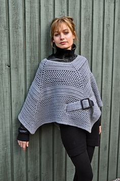 I totally love this crocheted poncho. I wish the pattern came out in English sooner. Would have loved to make this a few months ago.