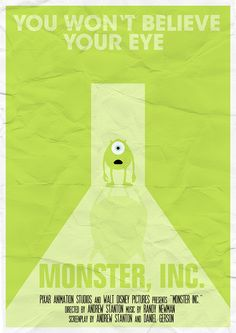 Monster Inc. by Vloh on DeviantArt Monsters Ink, Disney Monsters, Disney Love, Disney Art, Disney Pixar, Monsters Inc University, Mike Wazowski, Walt Disney Pictures, Disney Infinity