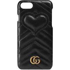 Gucci Gg Marmont Iphone 7 Case ($260) ❤ liked on Polyvore featuring accessories, tech accessories, phone cases, phone, black and gucci