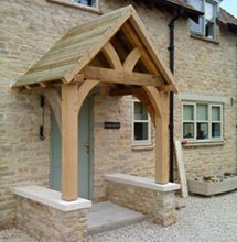 Stuart Dunbar Carpentry & Oak Porch Doorway Wooden porch CANOPY Entrance Self build kit ...