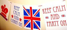 Union Jack party banner