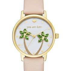Kate Spade New York Women's You Are Here Metro Watch, Gold/Tan, One Size