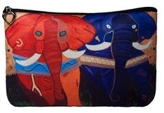 Elephants Cosmetic Bag by Salvador Kitti by SalvadorKitti on Etsy, $14.98