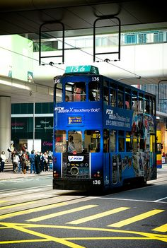 Hong Kong Blue Tram