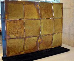 Wall panel covered with VeroMetal Iron, rusty, corten steel