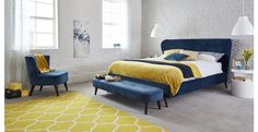 Bring soul and drama to your bedroom with the luxuriously upholstered Marcello collection.