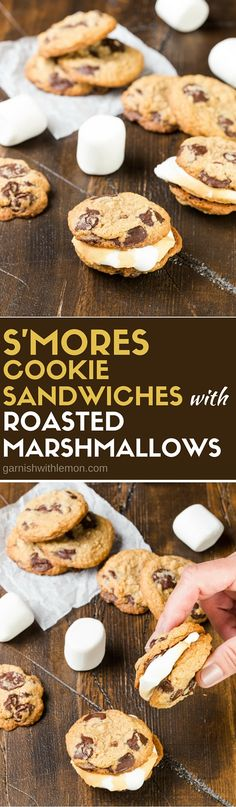 Put a new spin on a favorite summer treat with this recipe for S'MORES cookie sandwiches with roasted marshmallows.